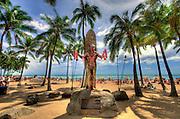 The Duke Kahanamoku Statue in Waikiki.