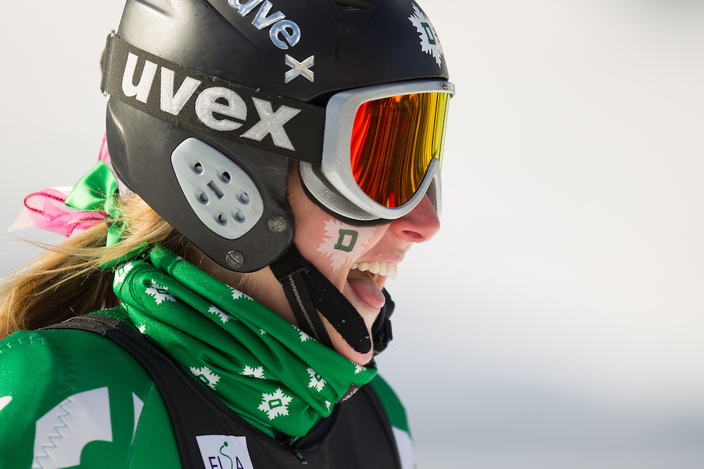 Abigail Fucigna of Dartmouth College, skis during the second run of the women's giant slalom at the Dartmouth Carnival at Dartmouth Skiway on February 7, 2014 in Lyme, NH. (Dustin Satloff/EISA)
