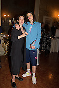 RACHEL HOWARD; MARK WALLINGER, Sarah Lucas- Scream Daddio party hosted by Sadie Coles HQ and Gladstone Gallery at Palazzo Zeno. Venice. 6 May 2015.