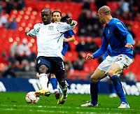 Photo: Alan Crowhurst.<br />England U21 v Italy U21. International Friendly. 24/03/2007. England's Leroy Lita (L) attacks.