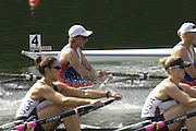 2006 FISA World Cup, Lucerne, SWITZERLAND, 08.07.2006, USA W4X, bow Lia PERNELL, Liane MALCOS, Jennifer KAIDO, Ala PIOTROWSKI, Photo  Peter Spurrier/Intersport Images email images@intersport-images.com....[Mandatory Credit Peter Spurrier/Intersport Images... Rowing Course, Lake Rottsee, Lucerne, SWITZERLAND.