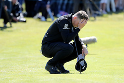 Matt Wallace looking dejected on 18 during day four of the Betfred British Masters at Hillside Golf Club, Southport.