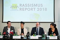 """21.03.2019, Presseclub Concordia, Wien, AUT, Präsentation des Rassismusreports 2018 vm Verein ZARA - Zivilcourage und Anti-Rassismus-Arbeit, im Bild Stadtrat Jürgen Czernohorszky (SPÖ), Faika El-Nagashi (Grüne), Geschäftsführer Dieter Schindlauer (ZARA) und Beratungs-Leiterin Caroline Kerschbaumer (ZARA) // during an media briefing with presentation of the """"racism report 2018"""" in Vienna, Austria on 2019/03/21, EXPA Pictures © 2019, PhotoCredit: EXPA/ Michael Gruber"""