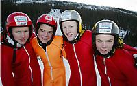 Hopp, 01. mars 2003, Junior NM,  Buskerud med: Are Bottolfs, Øyvind Solberg, Petter Tenstad og Kim Arne Tandberg ble nummer to i lagkonkurransen