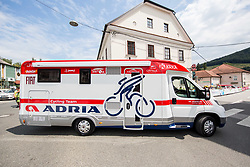 Fiat Adria Mobil van during 5th Time Trial Stage of 25th Tour de Slovenie 2018 cycling race between Trebnje and Novo mesto (25,5 km), on June 17, 2018 in  Slovenia. Photo by Vid Ponikvar / Sportida