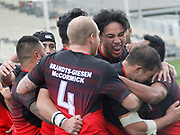Fulltime here at AMI Stadium, Counties Manukau Stingrays hanging on for a 28-22 win over Rockcote Canterbury Bulls in a thrilling New Zealand Rugby League (NZRL) National Premiership opener. <br /> #BullsvStingraysNZRFL NATIONAL COMPETITION 2017<br /> ROCKCOTE CANTERBURY BULLS v COUNTIES MANUKAU STINGRAYS<br /> AMI Stadium, Christchurch<br /> 20170917<br /> Photo Kevin Clarke CMGSPORT<br /> ©cmgsport