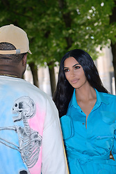 Kanye West and Kim Kardashian attending the Louis Vuitton Menswear Spring Summer 2019 show as part of Paris Fashion Week in Paris, France on June 21, 2018. Photo by Aurore Marechal/ABACAPRESS.COM