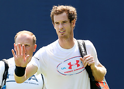 Andy Murray on the warm up court ahead of during day two of the 2017 AEGON Championships at The Queen's Club, London.