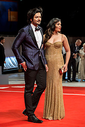 """Ali Fazal posing and his wife during the red carpet for the screening of """"Victoria & Abdul"""" at the 74th International Film Festival of Venice (Mostra), Venice, on september 3, 2017. Photo by Marco Piovanotto/ABACAPRESS.COM"""