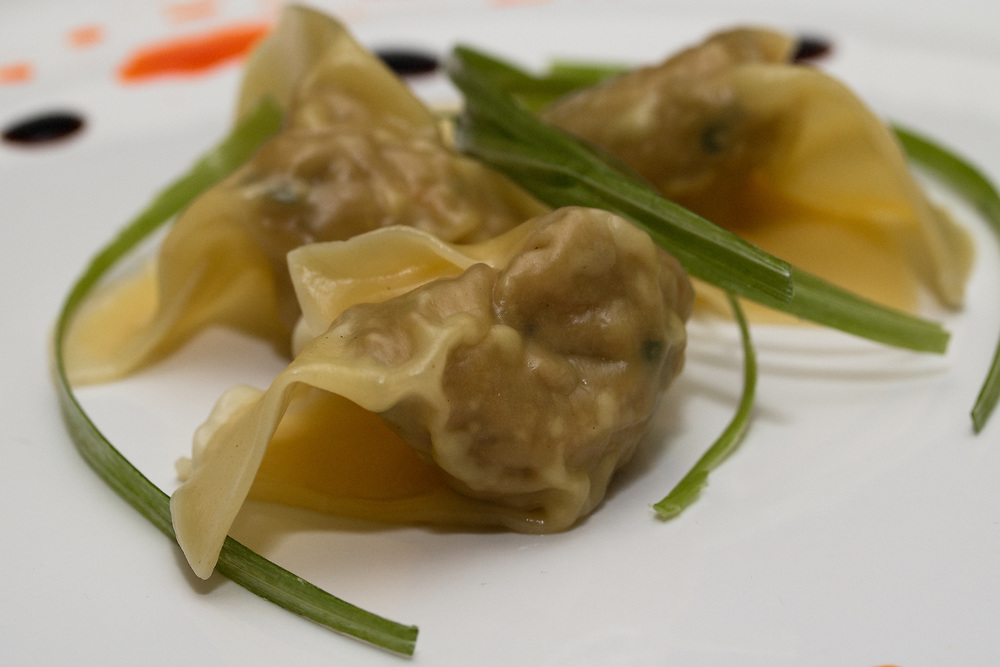 Wontons nicely plated