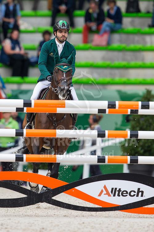 HH Prince Faisal Al Shalan, (KSA), Talan - Team & Individual Competition Jumping Speed - Alltech FEI World Equestrian Games™ 2014 - Normandy, France.<br /> © Hippo Foto Team - Leanjo De Koster<br /> 02-09-14