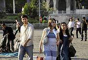 Turkije, Istanbul, 16-2011Straatbeeld van Istanbul in de aanloop naar de verkiezingen voor het parlement op 16 juni.Foto: Flip Franssen