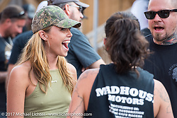 Gretchen Devine at the Iron Horse Saloon during the annual Sturgis Black Hills Motorcycle Rally. Sturgis, SD. USA. Saturday August 5, 2017. Photography ©2017 Michael Lichter.