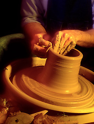Hands form forming preparing molding clay for pot art artwork potter craftsman works clay..pottery forming.. CONCEPT STOCK PHOTOS CONCEPT STOCK PHOTOS