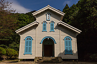 Egami Church Goto - In 1918 the descendants of Goto settlers cooperated to build the church under the direction of Tetsukawa Yosuke. Egami Village on Naru Island is one of the components of the Hidden Christian legacy of migrants from the mainland who continued to practise their faith secretly during the ban on Christianity.  Egami Church was built using indigenous techniques and materials and demonstrates the cultural continuity with regards to the period of the ban on Christianity. The Egami Church is considered as the best example in terms of design and structure among the wooden church buildings constructed in the Nagasaki region from the 19th century onwards.