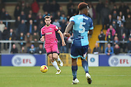 Hartlepool United Midfielder, Lewis Hawkins (18) during the EFL Sky Bet League 2 match between Wycombe Wanderers and Hartlepool United at Adams Park, High Wycombe, England on 26 November 2016. Photo by Adam Rivers.