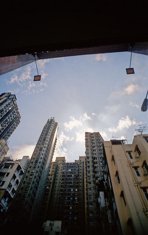 Central, Hong Kong, apartment blocks.