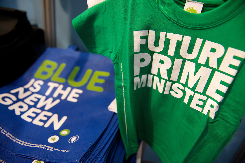 Conservatives party souvenirs are on sale in the giftshop on the first day of the Conservatives Party Conference at the ICC, Birmingham, UK on October 3, 2010.  This is the first conference since the government coalition with the Liberal Democrats.