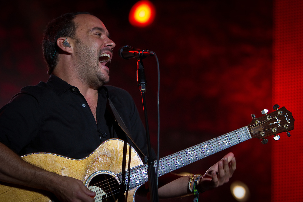 Vocalist/guitarist DAVE MATTHEWS of the Dave Matthews Band performs at the Mile High Music Festival.