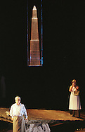 Scottish Opera's production of Das Rheingold, the first of Richard Wagner's Ring Cycle which is being staged at this year's Edinburgh International Festival, before going back for performances in Glasgow. Picture shows Wotan, ruler of the gods (Matthew Best) and his wife, Fricka, goddess of marriage (Anne Mason) in scene two.