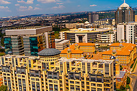 """Skyline of Sandton, Johannesburg, South Africa. Sandton is one of the most opulent areas of Johannesburg. It is the new financial district of South Africa  and Johannesburg's premier business district, known as """"Africa's richest square mile."""""""