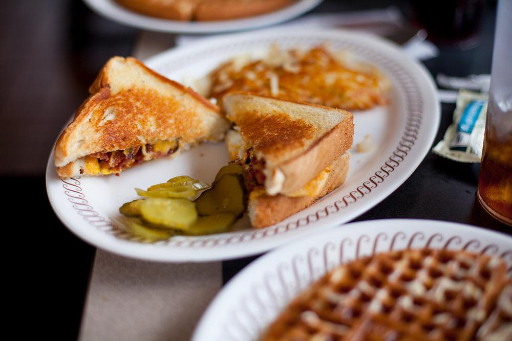 Texas Bacon Egg & Cheese Melt & Waffle at Waffle House #2055, 4510 Altama Ave, Brunswick, GA ($6.50) - OFF: LCI