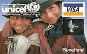 VISA credit card using image shot on Unicef assignment (to raise money for Unicef)