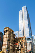 United States, Washington, Seattle, The Galland Building being torn down, 2nd Ave & Senica St  03/16/17