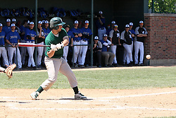 11 May 2013:  A.J. Nathan during an NCAA division 3 College Conference of Illinois and Wisconsin (CCIW) Pay in Baseball game during the Conference Championship series between the North Park Vikings and the Illinois Wesleyan Titans at Jack Horenberger Stadium, Bloomington IL