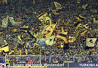 Fotball<br /> Foto: imago/Digitalsport<br /> NORWAY ONLY<br /> <br /> Samstag 19.04.2014, Saison 2013/2014, 1. Bundesliga, 31. Spieltag im Dortmunder Signal Iduna Park, BVB Borussia Dortmund 4:2, BVB-Fans unterstützen ihr Team von der Südtribüne aus<br /> Gelbe Wand