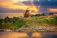 10th century Armenian Orthodox Cathedral of the Holy Cross on Akdamar Island, Lake Van Turkey 51 .<br /> <br /> If you prefer to buy from our ALAMY PHOTO LIBRARY  Collection visit : https://www.alamy.com/portfolio/paul-williams-funkystock/lakevanturkey.html<br /> <br /> Visit our TURKEY PHOTO COLLECTIONS for more photos to download or buy as wall art prints https://funkystock.photoshelter.com/gallery-collection/3f-Pictures-of-Turkey-Turkey-Photos-Images-Fotos/C0000U.hJWkZxAbg