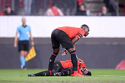 February 14, 2019 - Rennes, France - 07 ISMAILA SARR (REN) - 27 HAMARI TRAORE (REN) - FAIR PLAY - BLESSURE (Credit Image: © Panoramic via ZUMA Press)