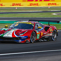 #71, AF Corse Ferrari, Ferrari 488 GTE EVO, LMGTE Pro, driven by: Davide Rigon, Sam Bird at FIA WEC Silverstone 6h, 2018 on 17.08.2018