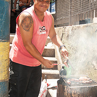 This dude was BBQing up a storm for a gathering of Santa Marta's residents in the church courtyard.