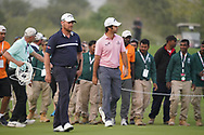 Jorge Campillo (ESP) & David Drysdale (SCO) in action during the final round of the Commercial Bank Qatar Masters 2020, Education City Golf Club , Doha, Qatar. 07/03/2020<br /> Picture: Golffile | Phil Inglis<br /> <br /> <br /> All photo usage must carry mandatory copyright credit (© Golffile | Phil Inglis)