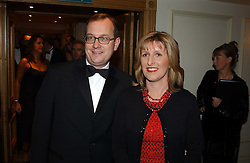 MR MARTIN TOWNSEND editor of The Express and his wife SAM at The Caron Keating Foundation Dinner in honour of the late TV presenter who died in April 2004, held at The Savoy, London on 4th October 2004.<br /><br />NON EXCLUSIVE - WORLD RIGHTS