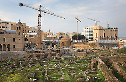 Among churches, mosques and Roman ruins, reconstruction continues more than 15 years since the end of the Lebanese civil war, Beirut, Lebanon, March 28, 2006.