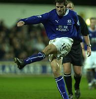 10/01/2004 - Photo  Peter Spurrier<br /> 2003/04 Barclaycard Premiership Fulham v Everton <br /> Kevin Kilblane  scores Everton's first goal,