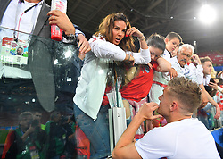 Rebekah Vardy and Jamie Vardy attending the 1/8 Final Game between Colombia and England at the 2018 FIFA World Cup in Moscow, Russia on July 3rd, 2018. Photo by Christian Liewig/ABACAPRESS.COM