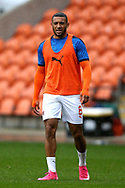 Blackpool forward Keshi Anderson (8) warming up during the EFL Sky Bet League 1 match between Blackpool and Lincoln City at Bloomfield Road, Blackpool, England on 3 October 2020.