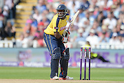 Michael Carberry during the NatWest T20 Blast Semi Final match between Hampshire County Cricket Club and Lancashire County Cricket Club at Edgbaston, Birmingham, United Kingdom on 29 August 2015. Photo by David Vokes.