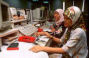 MALAYSIA, KUALA LUMPUR, ECONOMY Ta Securities, Islamic woman trading