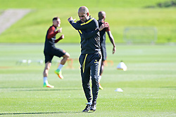 Manchester City manager Josep Guardiola warms up - Mandatory by-line: Matt McNulty/JMP - 23/08/2016 - FOOTBALL - Manchester City - Training session ahead of Champions League qualifier against Steaua Bucharest