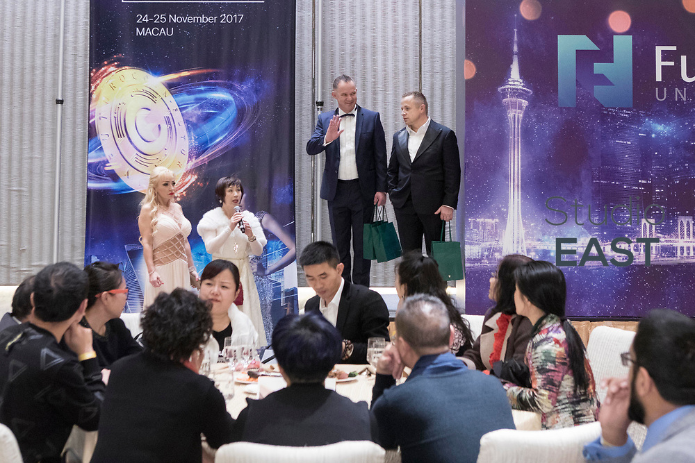VIP Dinner during FutureNet World Convention in Studio City Event Center, Macau, China, on 25 November 2017. Photo by King Chung Fung/Studio EAST