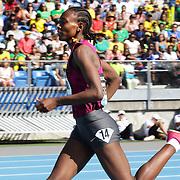 Abeba Aregawi, Sweden, winning the Women's 1500m during the Diamond League Adidas Grand Prix at Icahn Stadium, Randall's Island, Manhattan, New York, USA. 14th June 2014. Photo Tim Clayton