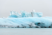 The Jokulsarlon glacier lagoon is in south-Iceland.