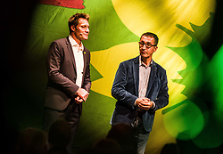 October 4, 2018 - Munich, Bavaria, Germany - The co-head of the German Green Party die Gruenen CEM OEZDEMIR visited Munich to make an appearance with Bavarian Green Party co-head LUDWIG HARTMANN.  The duo spoke of the goals of the Green Party moving forward in Bavaria, as well as part of their bigger, national plan.  The Bavarian state elections will take place on October 14th and the Greens are expected to make significant gains in the Landtag. (Credit Image: © Sachelle Babbar/ZUMA Wire)