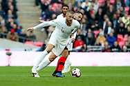England's Eric Dier dribbling during the UEFA Nations League match between England and Croatia at Wembley Stadium, London, England on 18 November 2018.