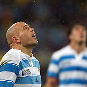 Argentinian captain Filipe Contepomi during the Argentina V Scotland, Pool B match at the IRB Rugby World Cup tournament. Wellington Regional Stadium, Wellington, New Zealand, 25th September 2011. Photo Tim Clayton...