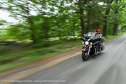 Gypsy Tour ride from Rally Headquarters in Laconia, NH to Bentley Warren's Bentley's Saloon in Arundel, ME during the Laconia Motorcycle Week. June 16, 2015.  Photography ©2015 Michael Lichter.
